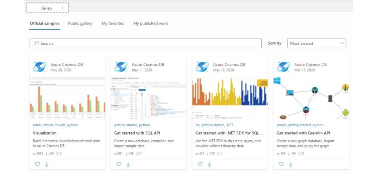 Looking at Azure Cosmos DB Notebooks
