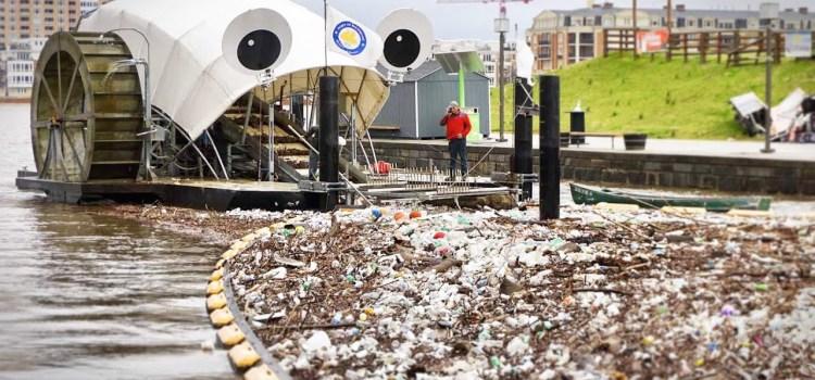 Mr. Trash Wheel Gobbles Garbage Floating in Baltimore Harbor