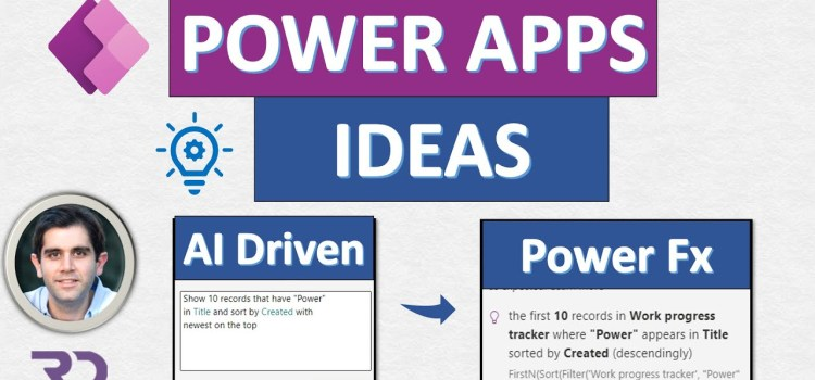 First Look at Power Apps Ideas – Natural language to Power Fx