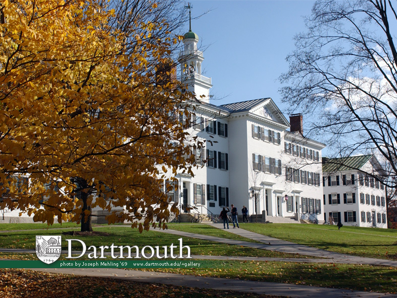 Fall Computer Wallpaper Backgrounds 达特茅斯学院 新罕布什尔州 Dartmouth College New Hampshire Frank