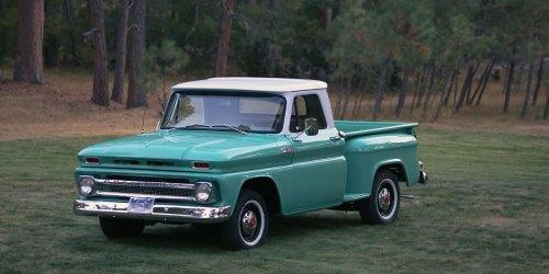 small resolution of 1965 chevrolet c10 stepside pickup truck restoration franktown collision and restoration garage