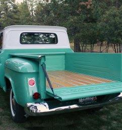 1965 chevy c10 stepside wood truck bed restoration [ 1200 x 842 Pixel ]