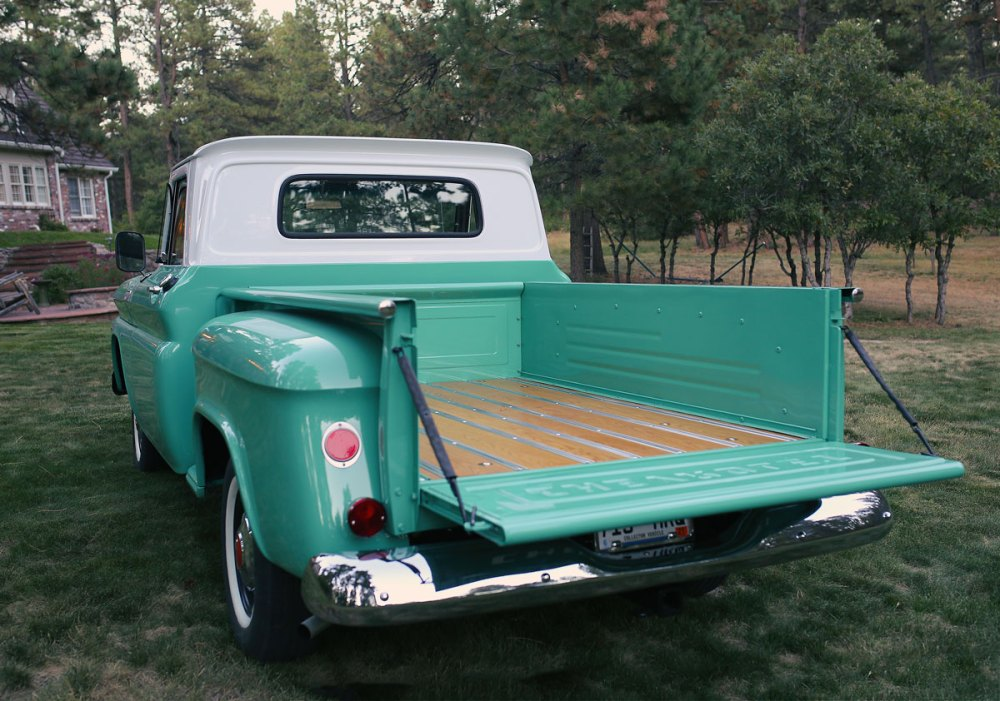 medium resolution of 1965 chevy c10 stepside wood truck bed restoration