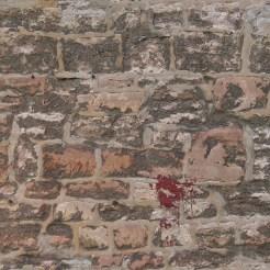 Shabby stone wall