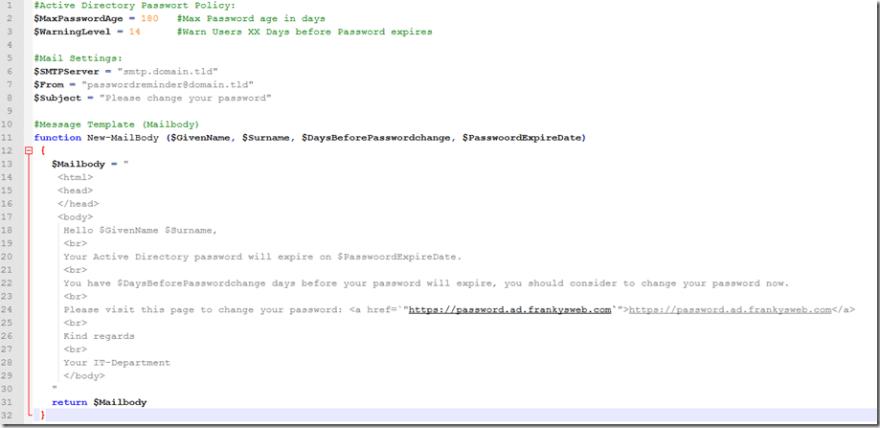 Passwort Script