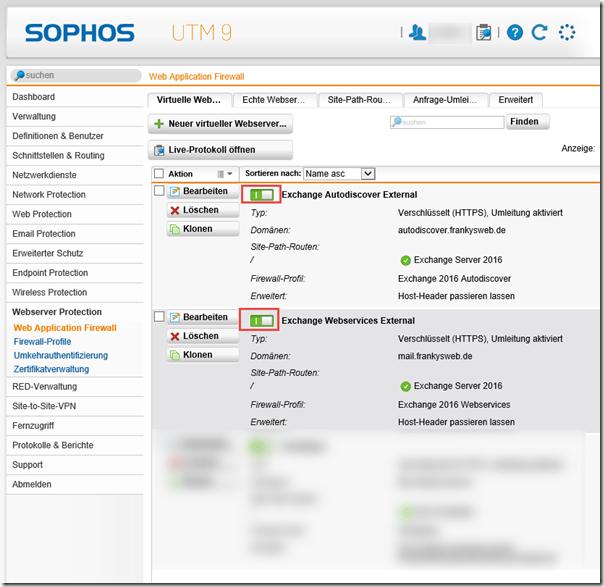 PRTG und Sophos UTM Webserver Protection (WAF)