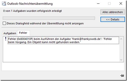 OAB Download: Objekt nicht gefunden