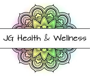 JG Health and Wellness banner over rainbow-colored mandala