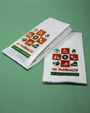 sacs papier pharmacie