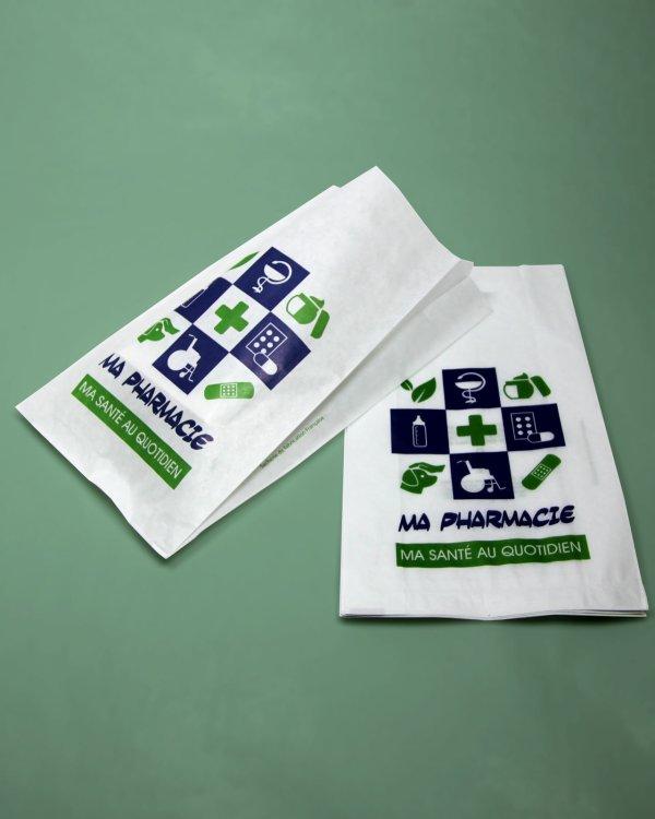 sac papier pharmacie large