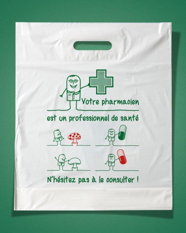 Sac plastique pharmacie