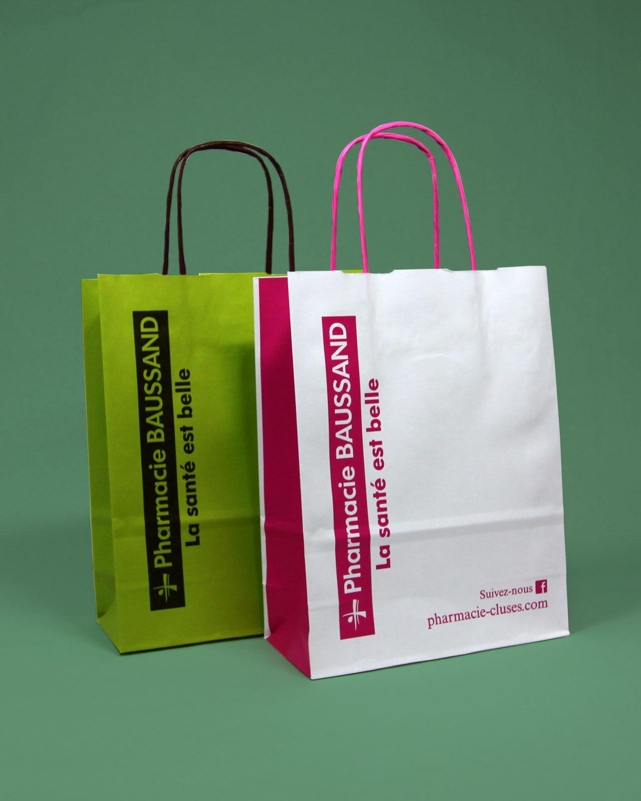 sac cabas papier pharmacie
