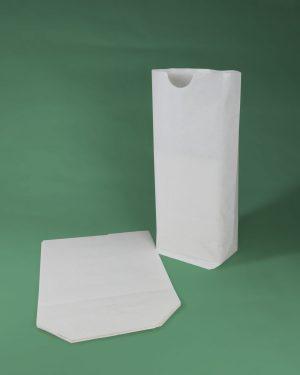 sacs papier écornés blancs pharmacie