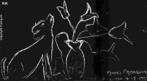 Franquin premier dessin