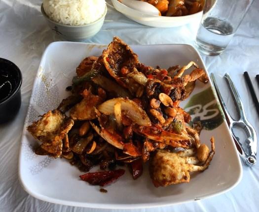 Fried crab in Cheung Po Tsai Style in Hong Kong