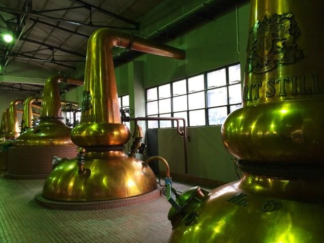Whisky stills Suntory Yamazaki Distillery Japan