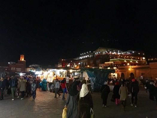 Jemaa el-Fnaa at night Marrakech Morocco