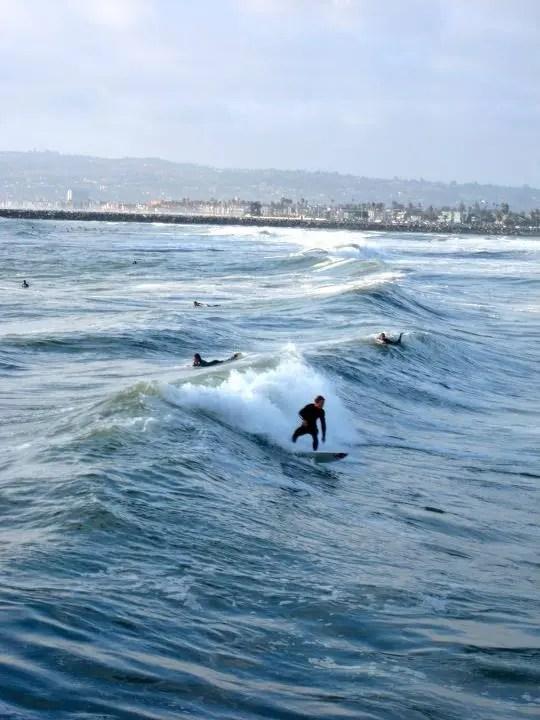 Surfers on Ocean Beach San Diego