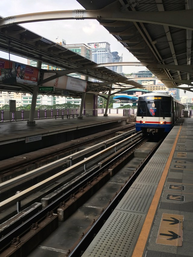 Skytrain at Siam Station in Bangkok