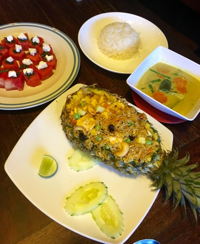Thai Pineapple fried rice at the The Pirate House