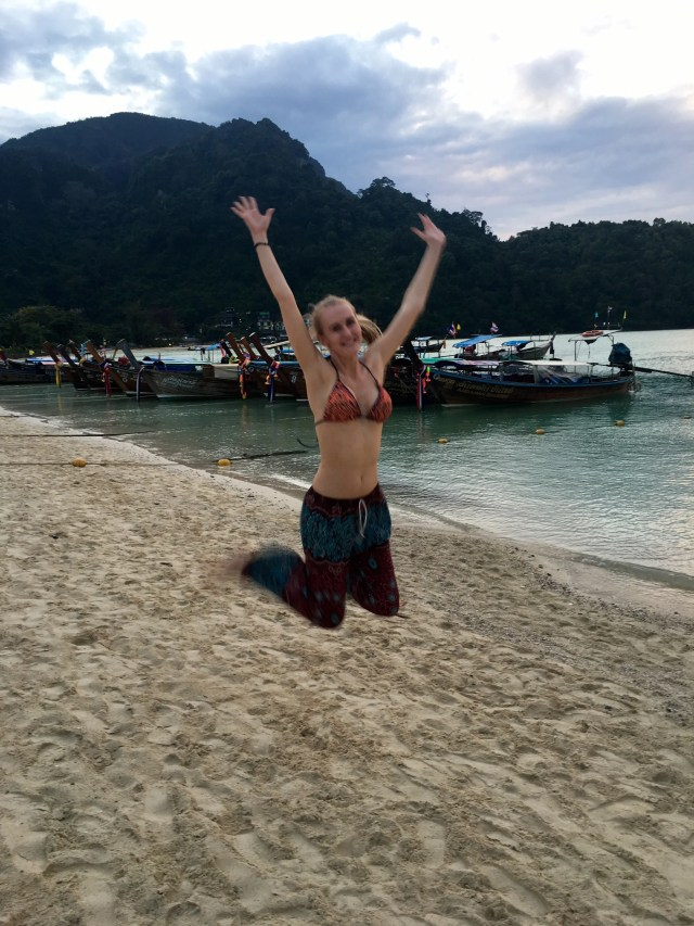 Messing around on the beach Koh Phi Phi