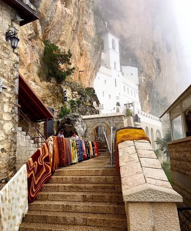 Ostrog Monastery, high in the mountains