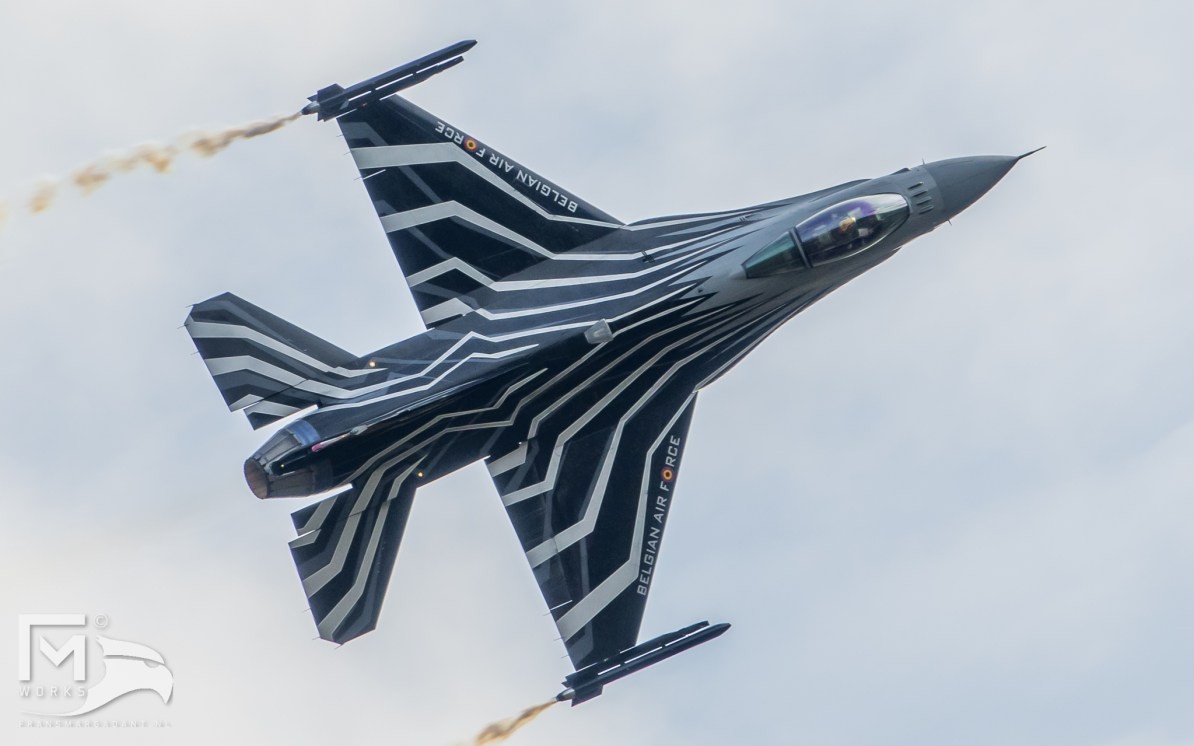 Belgian Air Force F-16 Solo Display Airshow Legend
