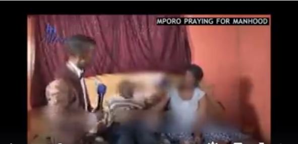 VIDEO: South Africa Pastor Mboro Prays for Man's Penis, Forces Him to Have Sex with his Wife on Live TV