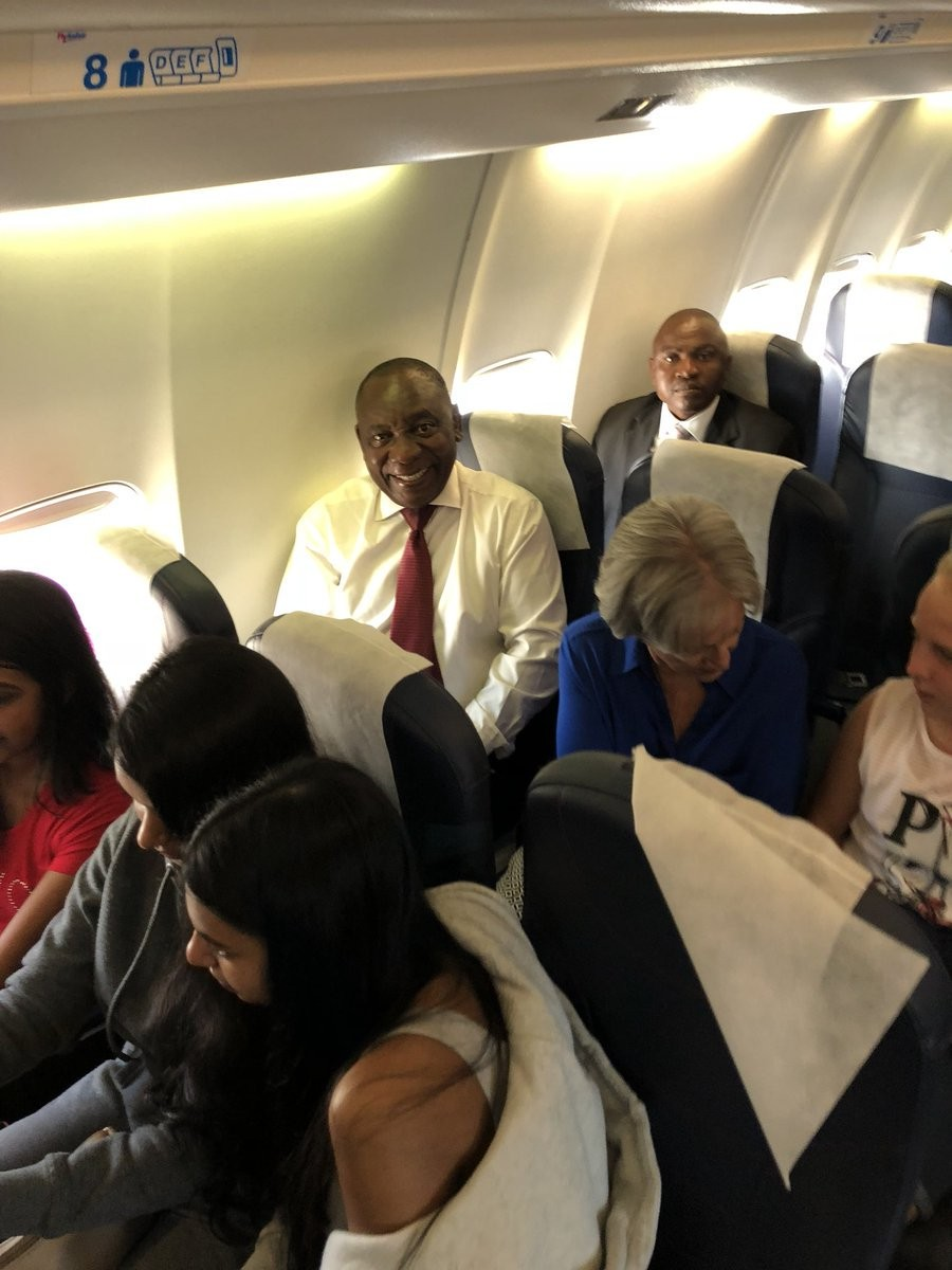 ''South African President Cyril Ramaphosa Travels Economy While President of Nigeria Shuts Down The Entire Economic Capital When He Travels'' BBC Reporter, Stephanie Hegarty