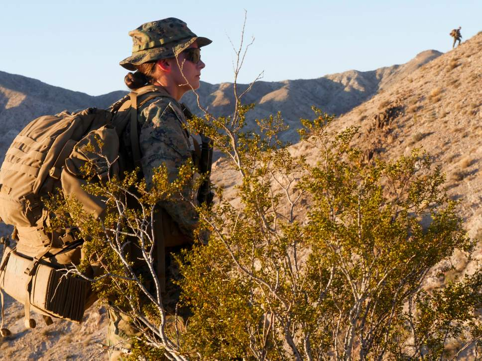 US Marines: First Lieutenant Marina Hierl 24, become the first woman ever to lead an infantry platoon