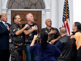 Trump visits Bikers for Trump rally in Bedminster, New Jersey
