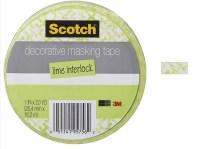 "3M Scotch - Decorative Masking Tape - 1"" x 20 yards - Lime ..."
