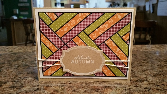 Frantic Stamper Precision Die  Woven Ribbons Card Panel