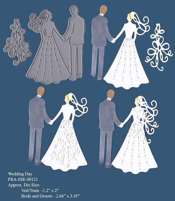 Frantic Stamper Precision Cutting Die Wedding Day