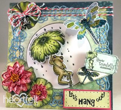 Heartfelt Creations Cutting Die Winking Frog