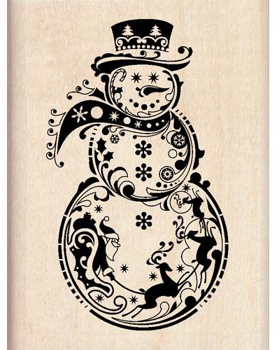 Inkadinkado Wood Mounted Stamp Snowman