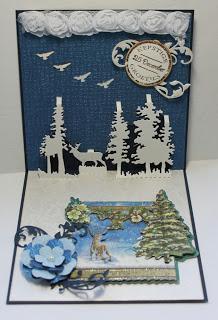 Joy Crafts Die Pop Up Deer And Pine Trees By Lin Amp Lene