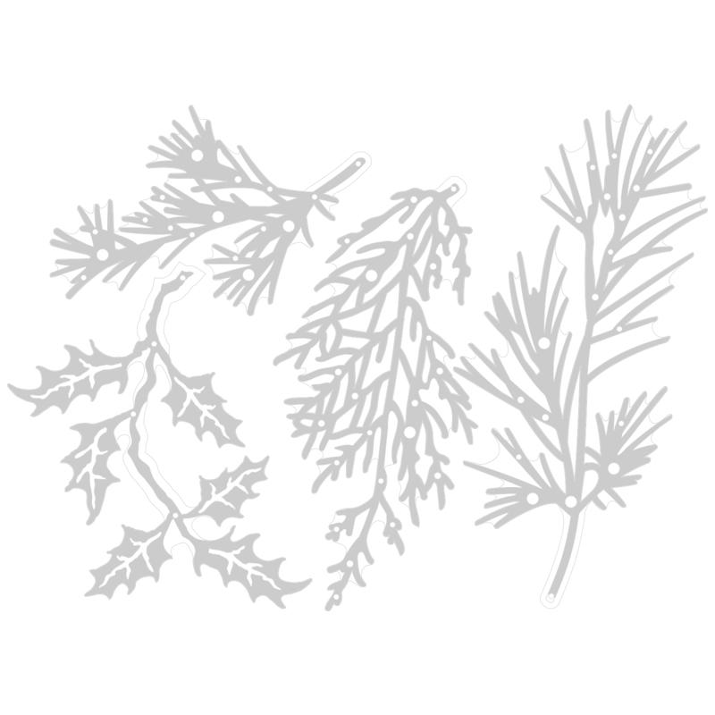 Sizzix Thinlits Dies By Tim Holtz 4pk Holiday Greens