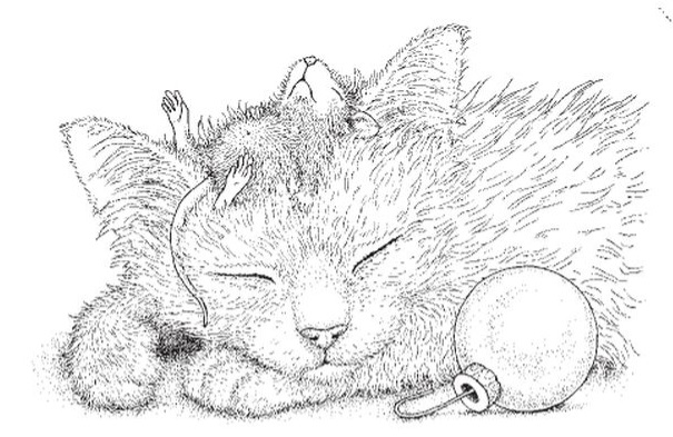 Stampendous Cling Mounted Rubber Stamp House Mouse