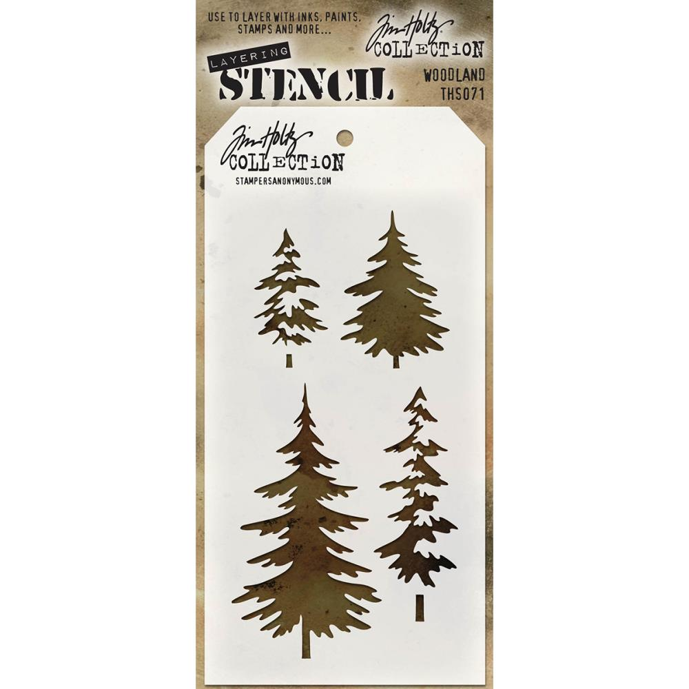 Stampers Anonymous Tim Holtz Layering Stencil Woodland