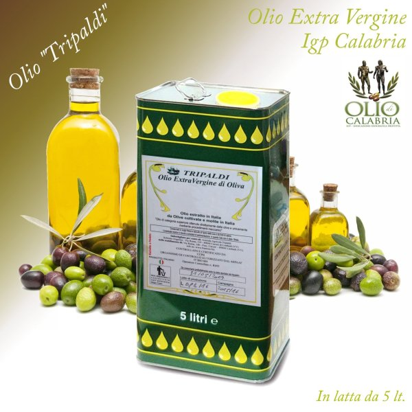 Olio Evo Extra Vergine di Oliva Igp Calabria «Tripaldi» 5 Lt