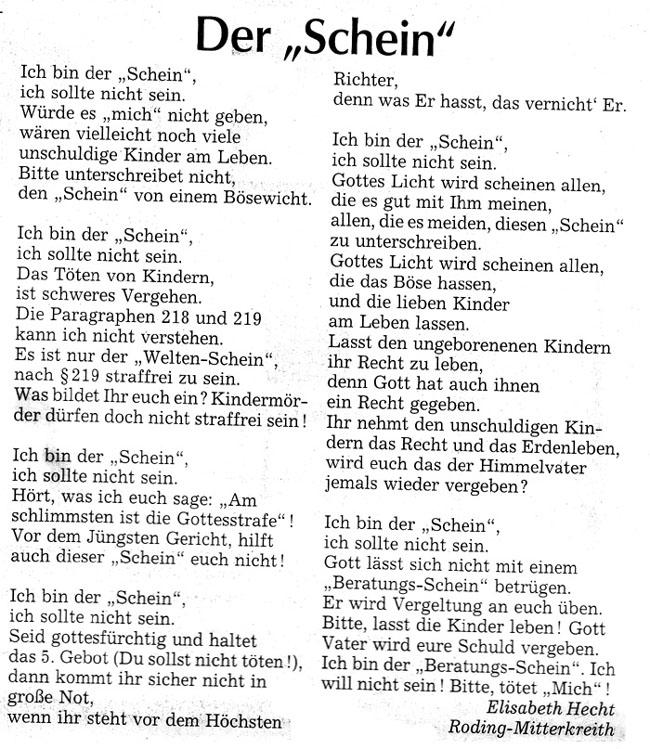 """Der """"Schein"""""""