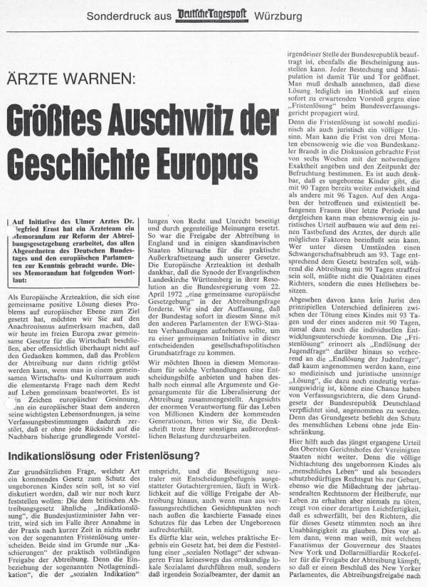 Ärzte Warnen: Größtes Ausschwitz der Geschichte Europas