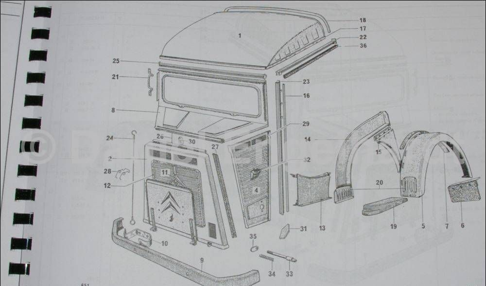 Citroen-spare parts catalogue n. 651, reprint, Camionettes