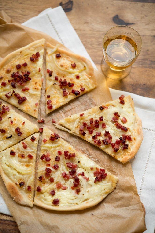 Elssser Flammkuchen  Rezept  Franzsisch kochen