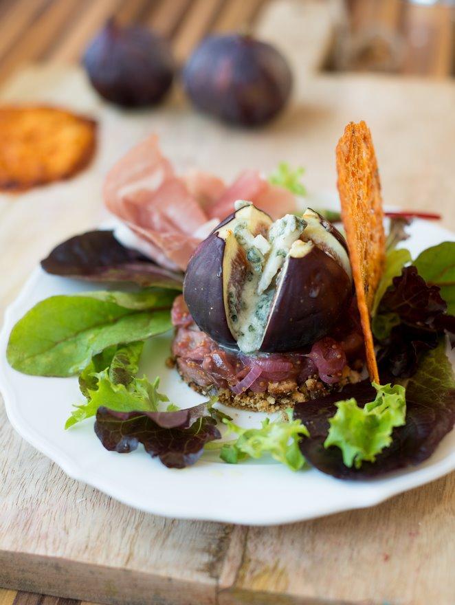 Exquisite Vorspeise mit Feigen und Roquefort   Rezept  Franzsisch kochen