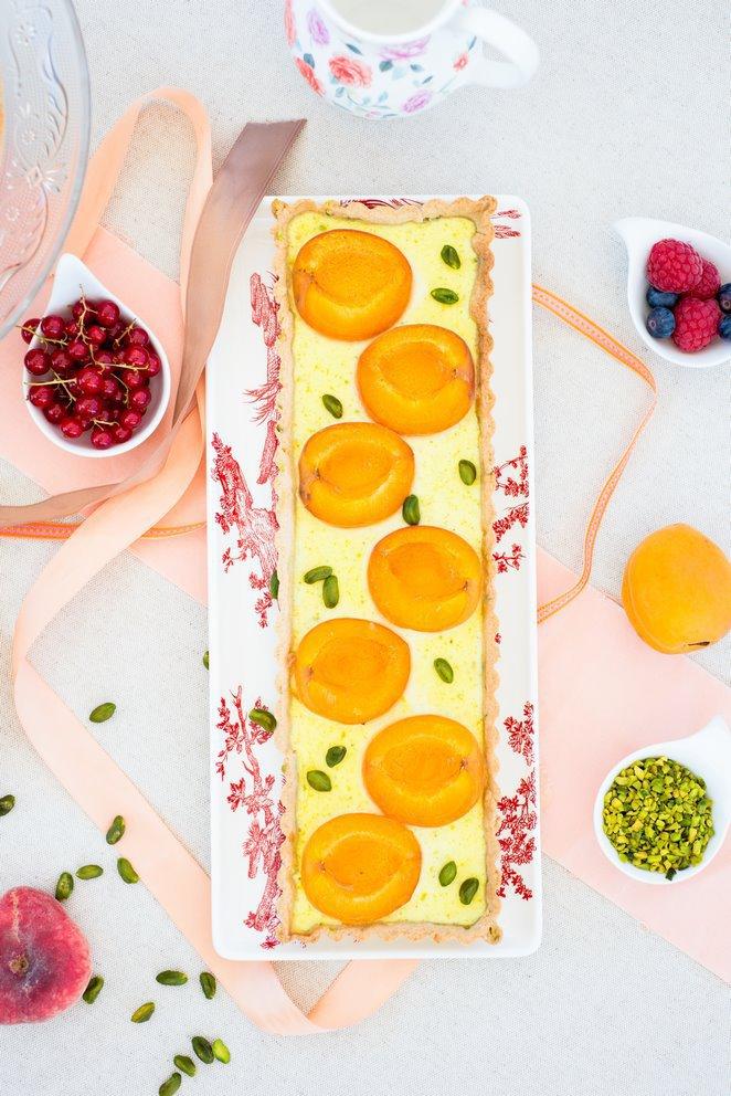 Aprikosen  Pistazien  Tarte   Rezept  Franzsisch kochen