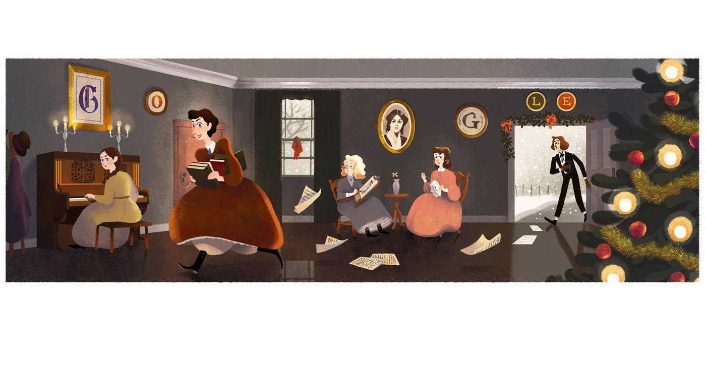 Il doodle di google per louisa may alcott autrice di for Piccole planimetrie per l home office