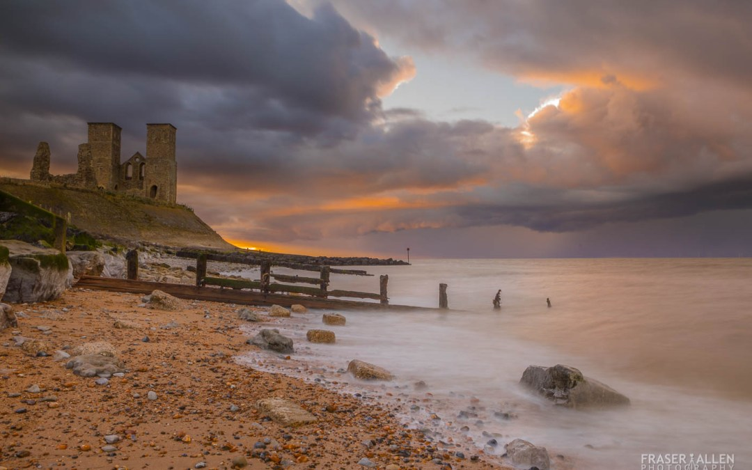 A cold day at Reculver Towers