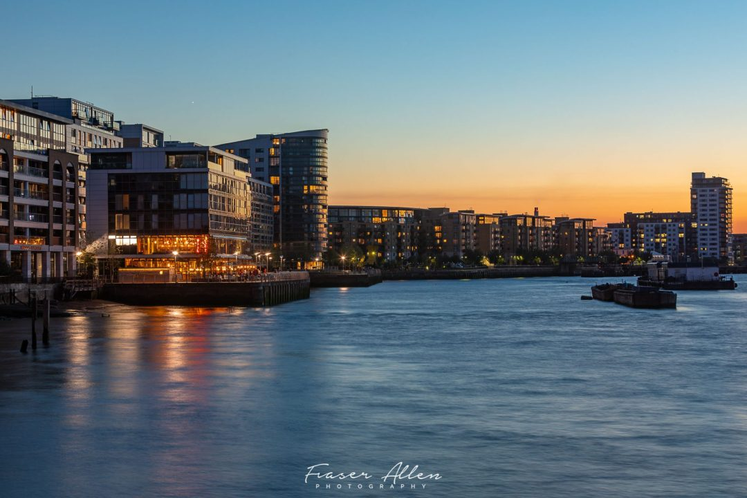 London skyline the last of the light